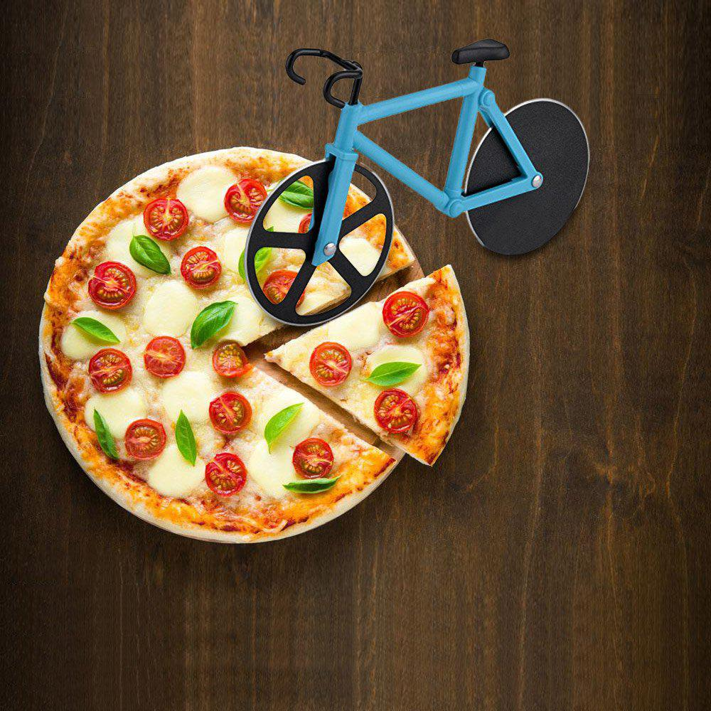 Bicycle Shape Stainless Steel Pizza Cutter stainless steel bicycle pizza cutter slicer wheel kitchen tool
