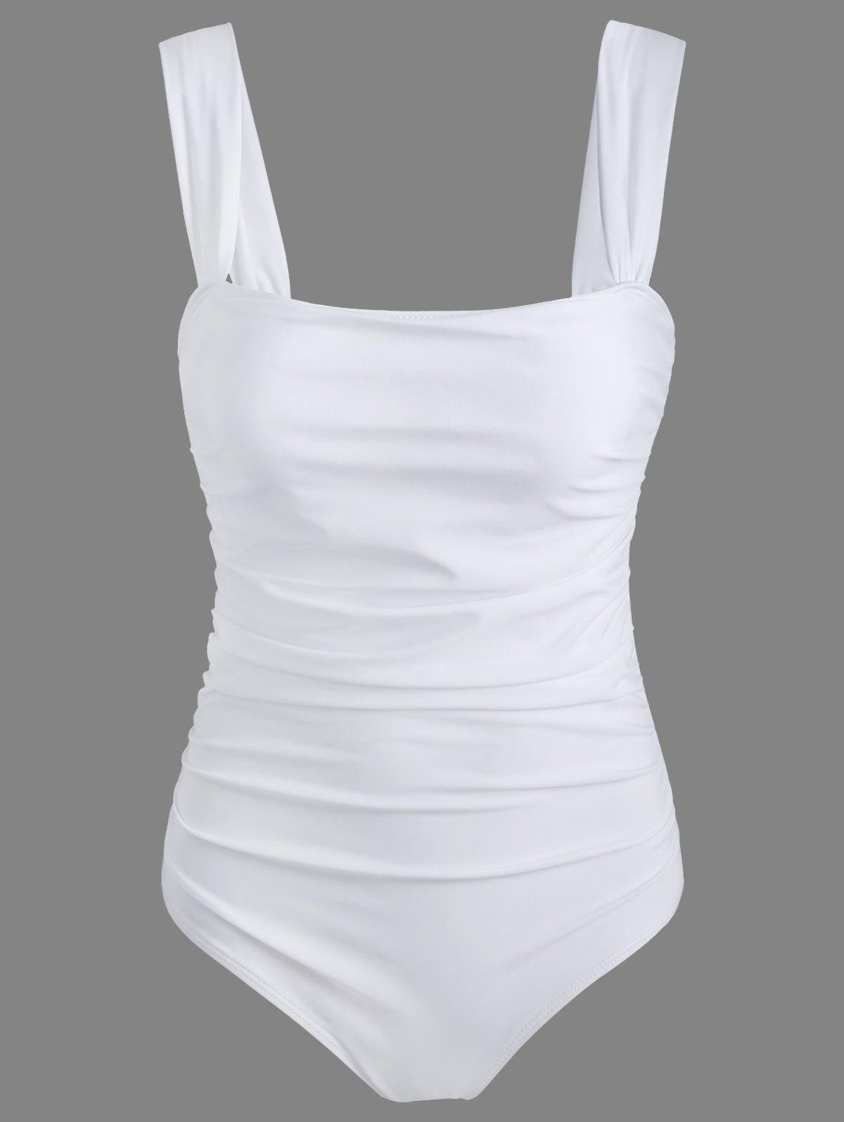 One Piece High Cut Maillots de bain - Blanc L