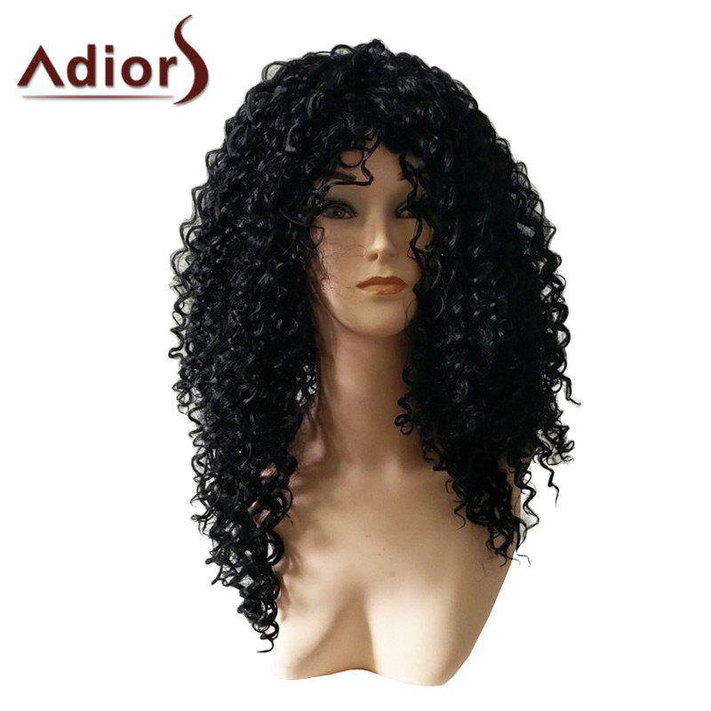 Adiors Afro Curly Long Heat Resistant Synthetic Wig fast shipping afro curl wig in large stocks heat resistant synthetic hair lace front wig kinky curly fluffy synthetic wig