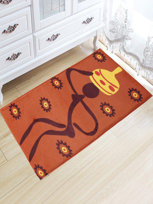 Figure Pattern Antiskid Flannel Water Absorption African Rug indian geometric pattern water absorption flannel antislip rug