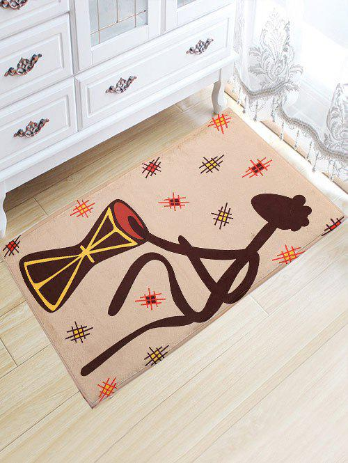 Figure Pattern Water Absorption Flannel Skidproof African Rug