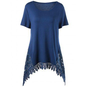 Plus Size Lace Trim Tunic Tee