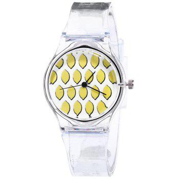 Silicone Strap Fruit Face Watch