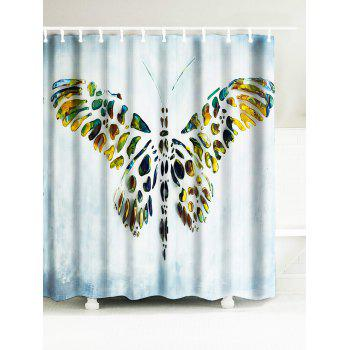Butterfly Artistic Waterproof Fabric Bath Curtain