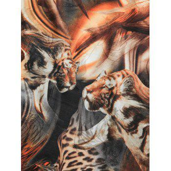 Short Sleeve Animals Print Tee - 5XL 5XL