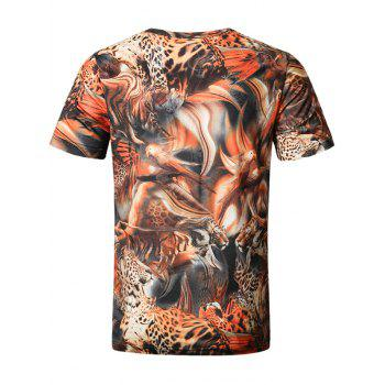 Short Sleeve Animals Print Tee - 4XL 4XL