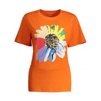 Floral Short Sleeve Plus Size Tee