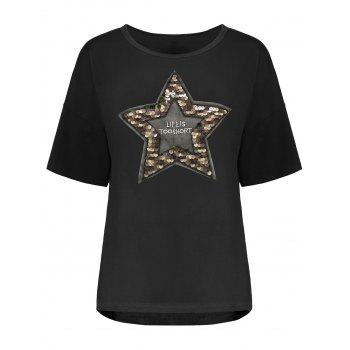 Sequin Star Plus Size Tee