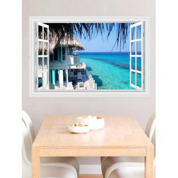 Vinyl 3D Seascape Faux Window Wall Sticker