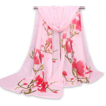Flowers Branch Printing Chinoiserie Shawl Scarf