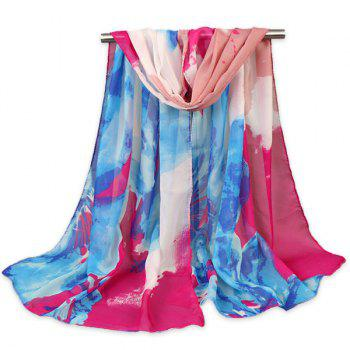 Gossamer Multicolour Fancy Flower Pattern Shawl Scarf