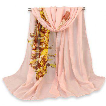 Gossamer Beauty Figure Painted Print Shawl Scarf