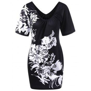 Floral T-Shirt Fitted Dress