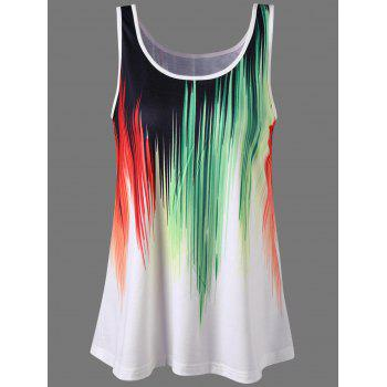 Sleeveless Graphic Ringer T-Shirt