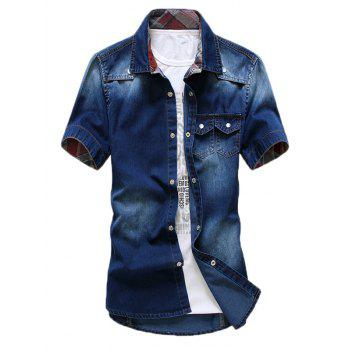 Double Pocket Washable Denim Shirt
