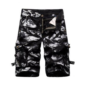 Zip Fly Cargo Shorts with Button Pockets