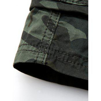 Camouflage Flap Pockets Cargo Shorts - COFFEE COFFEE