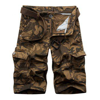 Camouflage Flap Pockets Cargo Shorts