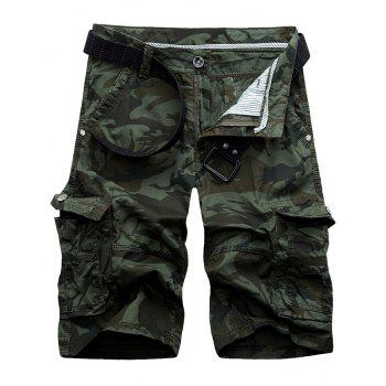 Camouflage Flap Pockets Cargo Shorts - ARMY GREEN ARMY GREEN