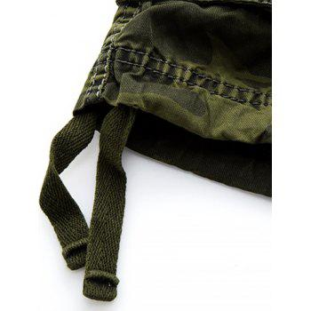 Zip Fly Camouflage Cargo Shorts - 34 34