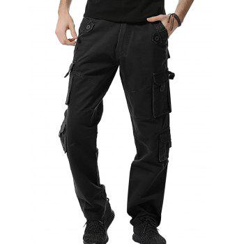 Straight Leg Multi Pockets Cargo Pants