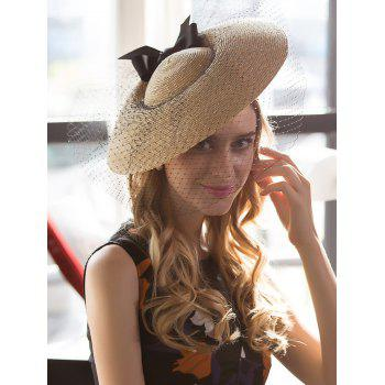 Mesh Veil Ribbon Bowknot Cocktail Hat