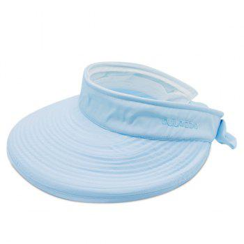 Detachable Top Wide Brim Sunscreen Visor - AZURE AZURE