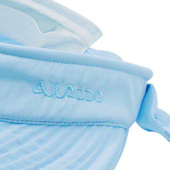 Detachable Top Wide Brim Sunscreen Visor -  AZURE