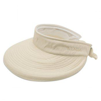 Detachable Top Wide Brim Sunscreen Visor - LIGHT KHAKI LIGHT KHAKI