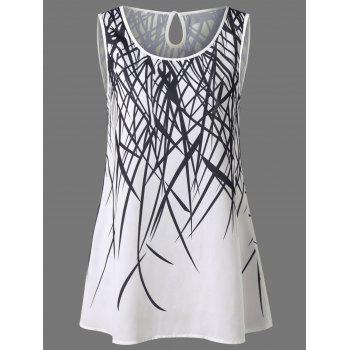 Cut Out Graphic Tank Top