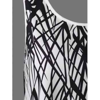Cut Out Graphic Tank Top - WHITE WHITE