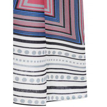 Knee Length Plus Size Print Dress - COLORMIX COLORMIX