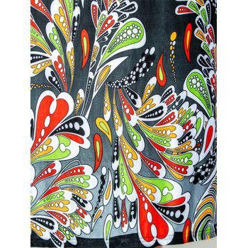 Floor Length Plus Size Print Dress - 4XL 4XL