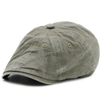 Washable Denim Artificial Frayed Flat Hat