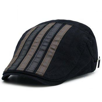 Vintage Striped Embellished Cabbie Hat