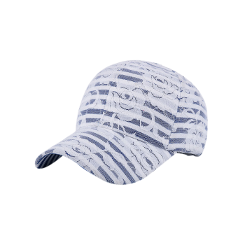Striped Lacework Floral Baseball Hat