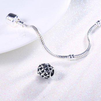 Alloy Ball DIY Charm Bead - SILVER