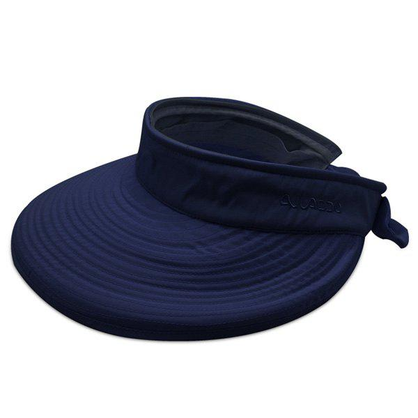 Detachable Top Wide Brim Sunscreen Visor - DEEP BLUE