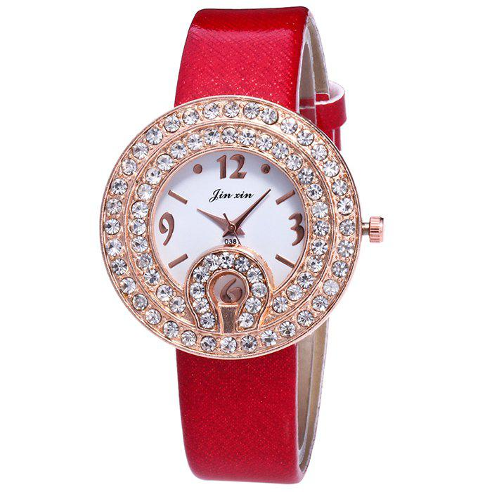 Faux Leather Rhinestone Number Watch faux leather rhinestone number watch