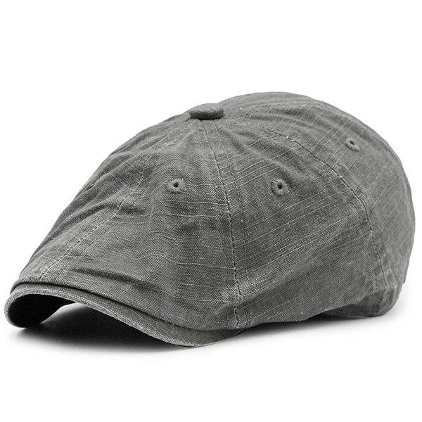 Washable Denim Artificial Frayed Flat Hat - DEEP GRAY