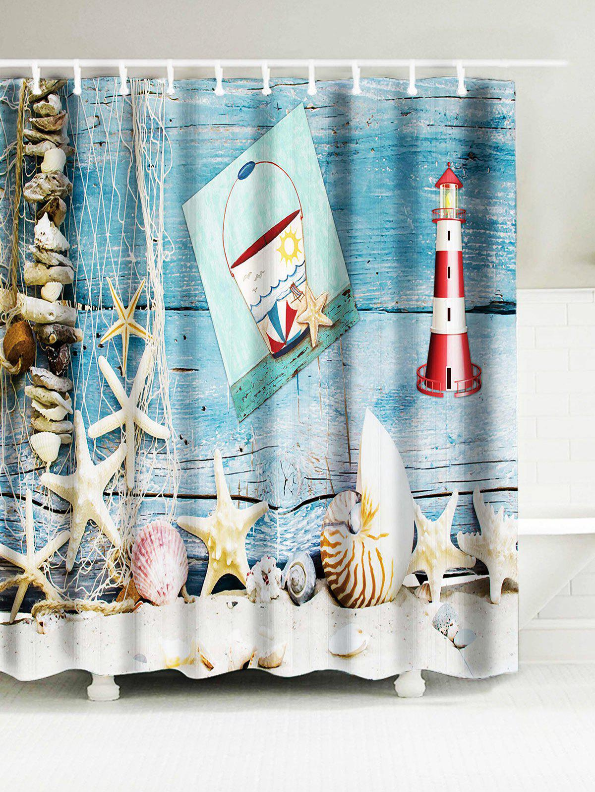 Starfish Shell Lighthouse Water Resistant Shower Curtain free customs taxes high quality skyy 48 volt li ion battery pack with charger and bms for 48v 15ah lithium battery pack