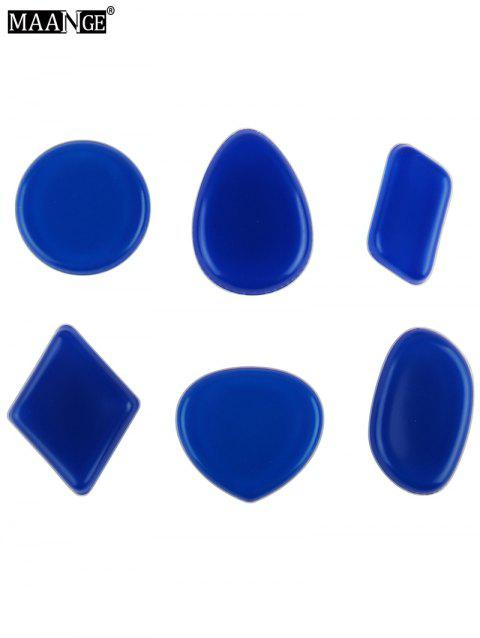 MAANGE 6PCS Silicone Different Shape Makeup Sponges - CERULEAN