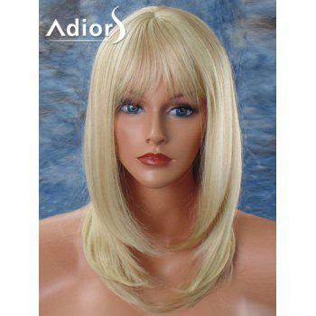 Adiors Medium Straight Tail Adduction Inclined Bang Synthetic Wig