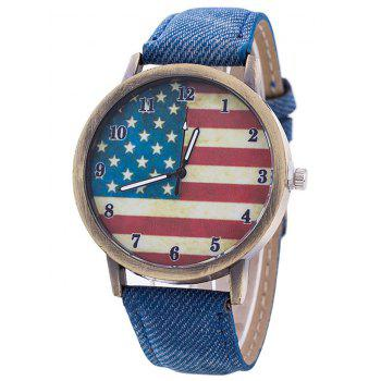 Stars And Stripes Flag Jeans Watch
