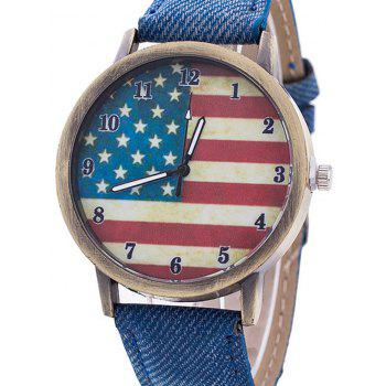 Stars And Stripes Flag Jeans Watch - BLUE