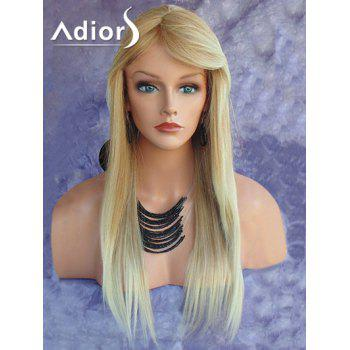 Adiors Ultra Long Side Bang Straight Synthetic Wig