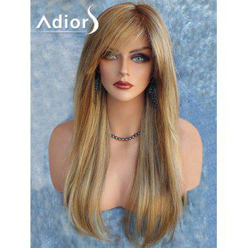 Adiors Long Colormix Side Part Straight Synthetic Wig