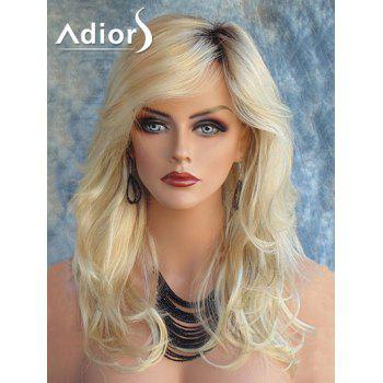 Adiors Long Slightly Curled Colormix Side Part Synthetic Wig