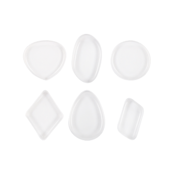 MAANGE 6PCS Silicone Different Shape Makeup Sponges -  TRANSPARENT
