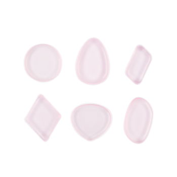MAANGE 6PCS Silicone Different Shape Makeup Sponges -  PINK